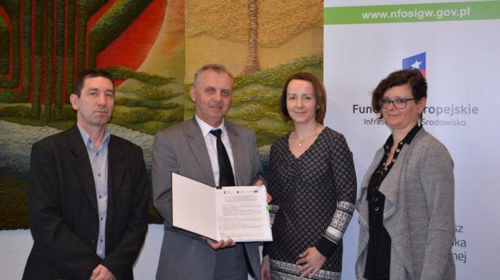 """Dotacja UE do zadania pn. """"Rozbudowa części biologicznej oczyszczalni ścieków w Kucharach k.Kalisza"""""""