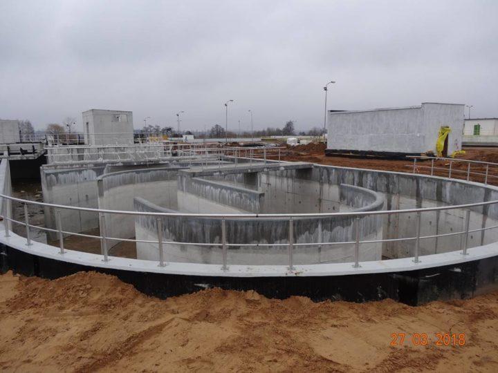 Zdjęcia z budowy – ROZBUDOWA CZĘŚCI BIOLOGICZNEJ – marzec 2018